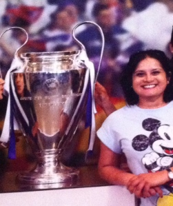 Me, and The Champion's league Replica, I think it's a replica.....