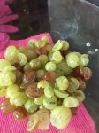 chopped up gooseberries