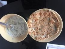 Mooli roti and raita: lunch!