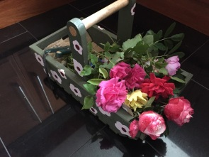 roses in the floral trug